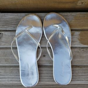 Silver Lane Bryant Flip Flops